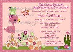 Once Upon a Pond TURTLE Baby Shower Invitation by monkeyhut, $16.00