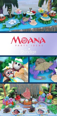 Our Moana birthday party supplies include dozens of decorations to make your ocean adventurer feel ready to take the open waters. Hawaiian Birthday, Luau Birthday, Disney Birthday, 6th Birthday Parties, Third Birthday, Birthday Ideas, Moana Themed Party, Moana Party, Moana Birthday Party Theme