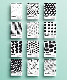 Graphic Art Calendar by Yulya Plotnik Graphisches Design, Book Design, Cover Design, Layout Design, Pattern Design, Print Design, Design Ideas, Design Cars, Packaging Design