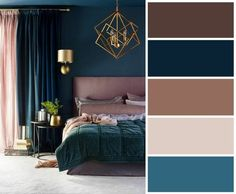 Bedroom Color Schemes, Bedroom Colors, Colour Schemes, Art Deco Bedroom, Home Decor Bedroom, Paint Colors For Home, House Colors, Art Deco Colors, Wall Colours