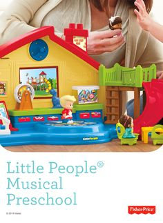 There's no homework at the Fisher-Price Little People® Musical Preschool – just playtime pals and plenty of light-up musical fun, with more than 35 sounds, phrases and songs.