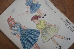 Vintage Dorothy Dress Sewing Pattern Girls 1950s by strangenotions, $4.00