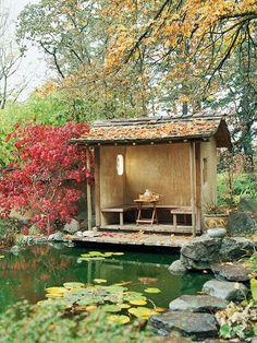 Teich im eigenen Garten