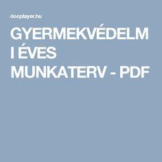 GYERMEKVÉDELMI ÉVES MUNKATERV - PDF