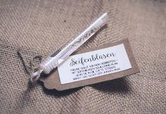 Etiketten für Eure Seifenblasen - PDF zum selbst Ausdrucken. Jetzt auf Brautflohmarkt kaufen.