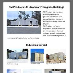 RM Products Ltd - Modular Fiberglass Buildings RM Products Ltd. has been supplying industry and government with safe and secure fiberglass storage &a.
