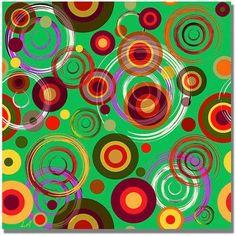 Trademark Fine Art Raindrops on Green Canvas Art, Size: 24 x 24, Multicolor