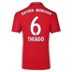 Bayern Munchen 2016/17 Home Men Soccer Jersey THIAGO #6