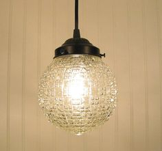Diamond Square Clear PENDANT Light by LampGoods on Etsy, $75.00