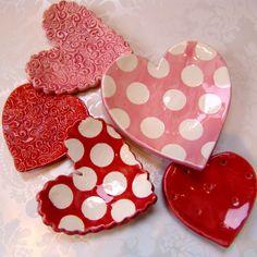 ceramic Hearts  set of 5
