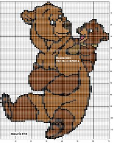 Disney Brother Bear perler bead pattern by Mauricette