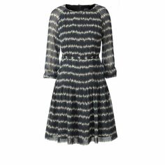 Orla Kiely | UK | Clothing | Past Season | Silk Georgette Garden Party Raglan Tunic (12SWGGT751) | Ink