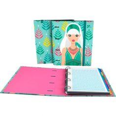 """CarpeBook DIN-A4 Archivador de la nueva colección Noa 2017 en su serie """"Hojas"""".  #papeleria #materialescolar #materialdeoficina #Grafoplás #diseño #verde #chica"""