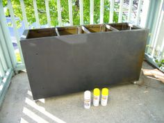Modern DIY Metal planters another old file cabinet into a planter box