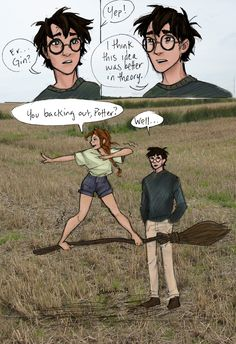 Ginny's challenge part 1 Harry Potter Comics, Fanart Harry Potter, Harry Potter Tumblr, Harry Potter Couples, Harry Potter Puns, Harry Potter Drawings, Harry Potter Ships, Harry Potter Characters, Harry Potter Universal