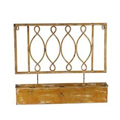 Shop for Privilege Yellow Iron Wall Planter. Free Shipping on orders over $45 at Overstock.com - Your Online Home Decor Outlet Store! Get 5% in rewards with Club O!