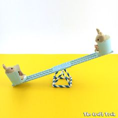 Make a straw see-saw for imaginary play. This is a fun STEAM craft for kids and also makes a great DIY toy, perfect for Sylvanian Families! Diy For Kids, Crafts For Kids, Sylvanian Families, Family Crafts, Quilling Designs, Seesaw, Diy Dollhouse, Craft Stick Crafts, Toy Craft