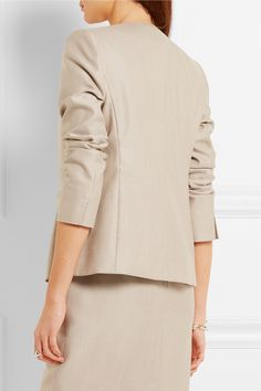 Max Mara | Colonia stretch wool and silk-blend jacket | NET-A-PORTER.COM