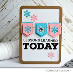 A pocket page-friendly Story Card created with clear stamps and steel dies from TechniqueTuesday.com,