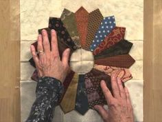 """Carolyn Beam demonstrates how to make Dresden Plate blocks from 5"""" charm squares. This tutorial can help you make the Dresden Plate patterns in Quiltmaker's ..."""