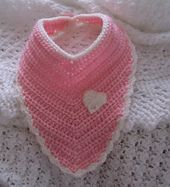 Ravelry: Bandana Shaped Dribble Bib pattern by Thomasina Cummings Designs