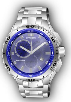 my favorite wrist watch with blue inserts