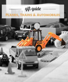 Top toys for kids who love planes, trains, cars, and construction vehicles - great detailed descriptions and age recommendations here and in all the MPMK gift guides!
