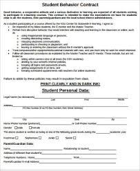 Image Result For Student Behaviour Contract  Letters And Notes