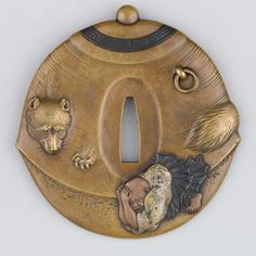 """Les plus belles œuvres des artisans japonais. tsuba 鍔 / 鐔 - garde de sabre """" """"Bunbuku Chagama 分福茶釜"""" """""""