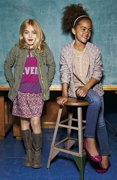 Peek Jacket, Tee & Skirt and Peek Cardigan, Top & Jeans (Toddler Girls, Little Girls & Big Girls)  available at #Nordstrom