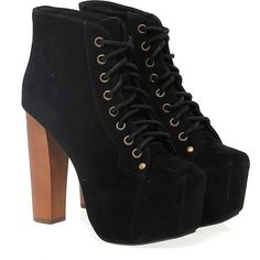 Jeffrey Campbell Ankle Boots ($170) ❤ liked on Polyvore featuring shoes, boots, ankle booties, platform booties, suede booties, black suede bootie, black suede booties and black high heel booties