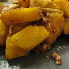 Acorn squash with apple (and easier way to peel squash)