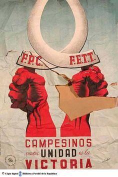 Campesinos, vuestra unidad és la victoria :: Cartells del Pavelló de la República (Universitat de Barcelona)