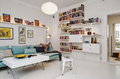 String Shelves and Happiness with Kartell Bloom pendant light