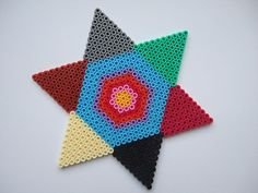 Star hama beads by Merrily Me, via Flickr