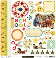 October Afternoon - Report Card 12 x 12 shape stickers