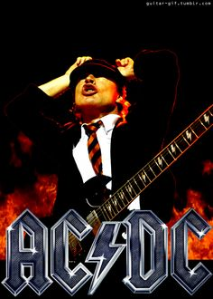 AC/DC - A library of free animated gifs Rock And Roll Bands, Rock Bands, Rock N Roll, Free Animated Gifs, Highway To Hell, Angus Young, Song One, Blues Rock, Films