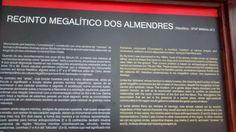 Placa explicativa dos Megalitos dos Almendres Évora /  PT