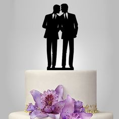 Gay cake topper for wedding same sex cake by walldecal76 on Etsy