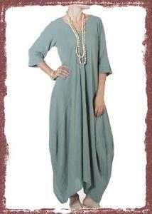 Oh My Gauze Cotton Lagenlook Bella Dress OSFM chz Color | eBay