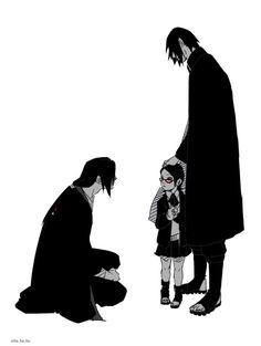 It would have been nice if Sarada met Itachi Uchiha. Anime Naruto, Naruto And Sasuke, Naruto E Boruto, Naruto Cute, Sasuke Older, Sasunaru, Hinata, Itachi Uchiha, Uchiha Fugaku