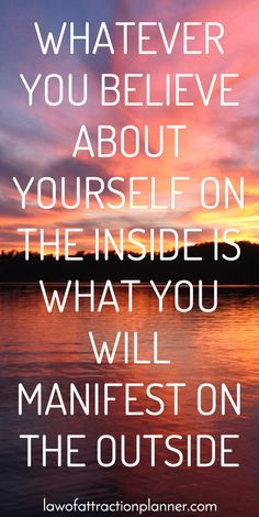 Whatever you believe about yourself on the INSIDE is what will manifest on the Outside. Check what you're thinking about, change one at a time and see the transformation! ❤
