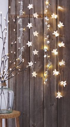 Christmas lights. A nice way to make a room brighter. good for any time of the year, really.
