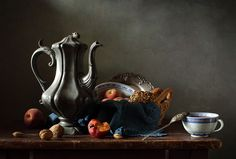 #fruit in #still #life #photography • photo: С кофейником... | photographer: Диана Амелина | WWW.PHOTODOM.COM
