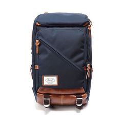 [Noart] Sweed Proper Laptop Backpack - Navy - Noart backpacks are made of mixture of leather and durable nylon. Functional storages structure and protective material bring convenient experience. It offers useful organizing pockets including laptop pocket, plus very comfortable shoulder straps and back support.  Enjoy the stylish look with Noart backpacks. This will be perfect choice for school, outings, or biking to work. Brand 'Noart' NoArt is the Korean label started in 2008 by artists wh…