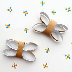 Butterflies made out of toilet rolls  #playschool #kidscrafts #kidsactivities