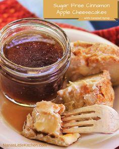 THM E Cinnamon Apple Cheesecakes with FP caramel sauce