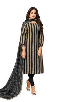 Me Lady Black Chanderi Embroidered Semi Stitched A Line Style Suit Latest Salwar Suits, Indian Salwar Suit, Punjabi Dress, Salwar Kameez Online, Suit Shop, Clothes For Women, Lady, Coat, Jackets