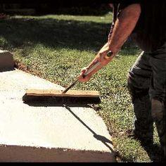 Resurface cement driveway or sidewalk