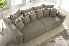 20805 Big Sofa Bigsofa Couch Garnitur Hellbraun braun grau Neu | eBay
